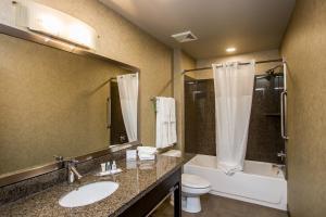 A bathroom at Comfort Suites Kelowna