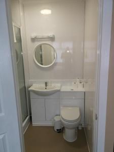 A bathroom at The Lawton