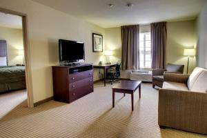 A television and/or entertainment center at Cobblestone Inn & Suites - Carrington