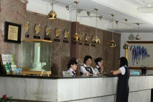 The lobby or reception area at Ulaanbaatar Hotel