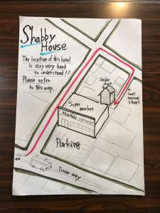 The floor plan of Shabby House