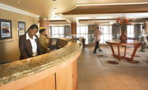 The lobby or reception area at Sibaya Lodge