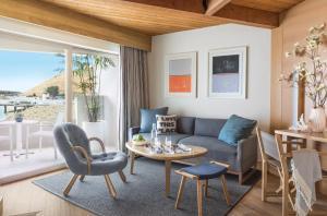 A seating area at Malibu Beach Inn