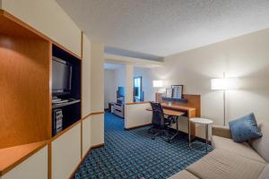 A television and/or entertainment center at Fairfield Inn & Suites by Marriott Cleveland Streetsboro