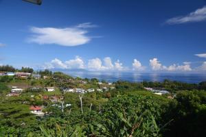 Uma vista aérea de Manava Tahara'a back packers