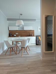 A kitchen or kitchenette at Apartament Cesarski Agnes