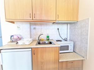 A kitchen or kitchenette at Marel Apartments