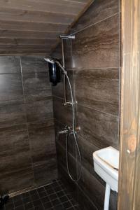 A bathroom at Lomakeskus Revontuli Glass Igloos