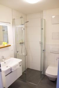A bathroom at Ferienland Salem