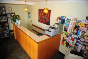 The lobby or reception area at Mildura Plaza Motor Inn