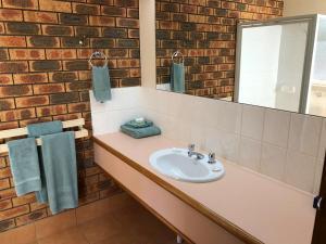 A bathroom at Victoriana Motor Inn