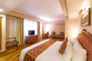 A seating area at Grand Hotel Saigon