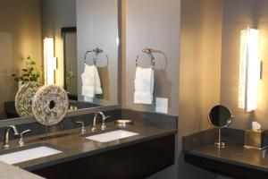A bathroom at Little Creek Casino Resort