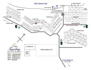 The floor plan of Unit 303 Two-Bedroom Condo
