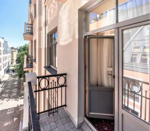 A balcony or terrace at Rixwell Old Riga Palace Hotel