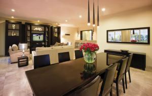 Espaço para refeições no resort