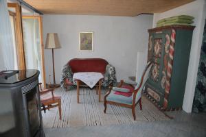 Ein Sitzbereich in der Unterkunft Casa Flora