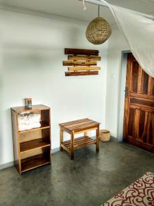 A seating area at Kamunjila Lodge