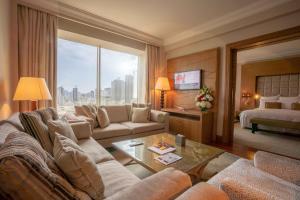 منطقة جلوس في Gulf Hotel Bahrain