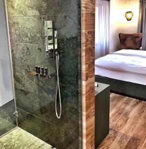 Ein Badezimmer in der Unterkunft Hotel Gabbani