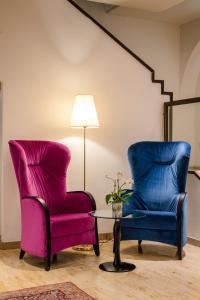 Ein Sitzbereich in der Unterkunft Hotel IMLAUER & Bräu