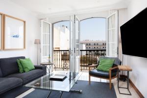 Coin salon dans l'établissement Rooms & Suites Balcony 3C