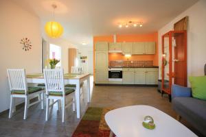 Küche/Küchenzeile in der Unterkunft Hainhof Gästewohnungen