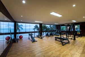 The fitness center and/or fitness facilities at D Beach Resort