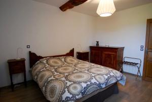 Un ou plusieurs lits dans un hébergement de l'établissement Maison d'Hôtes des 2 Chênes