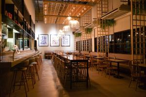A restaurant or other place to eat at Lub d Philippines Makati