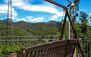 Общий вид на горы или вид на горы из дома для отпуска