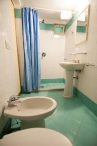 A bathroom at Albergo Macrì