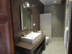 A bathroom at Hotel Rural Cal Torner Adults Only