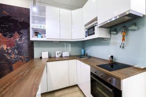 Kuchyň nebo kuchyňský kout v ubytování Ráday-Soho Apartment in the heart of Budapest