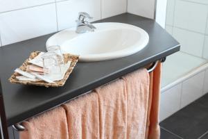 A bathroom at Akzent Hotel Oberhausen