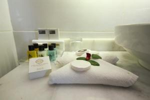 Un ou plusieurs lits dans un hébergement de l'établissement Style Star Hotel Cihangir