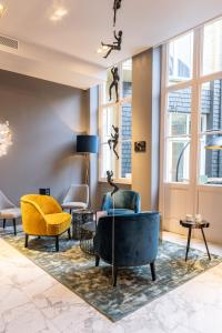 A seating area at Boutique Hotel Sablon