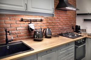 Kuchyň nebo kuchyňský kout v ubytování Mr.Elegant - Old Town Luxurious Apartment