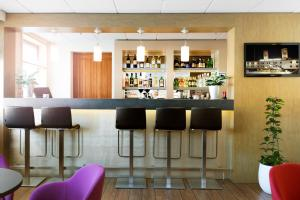 The lounge or bar area at Good Morning+ Sundsvall