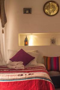 Cama o camas de una habitación en Riad Dari