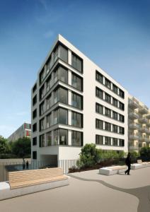 البناء الذي يحتوي الشقة الفندقية
