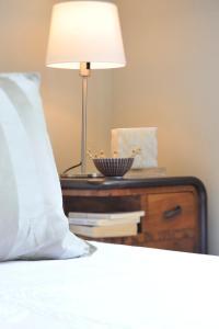 Letto o letti in una camera di Villa La Maggiorana