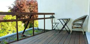 A balcony or terrace at Bed & Breakfast Exterlaer