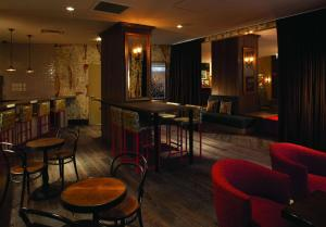 The lounge or bar area at Hotel Lincoln, part of JdV by Hyatt