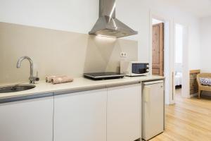 A kitchen or kitchenette at BcnStop Parc Güell