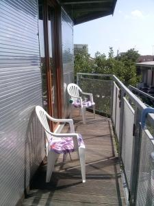 A balcony or terrace at BGY Airport Guesthouse