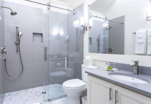 A bathroom at Southbridge Napa Valley