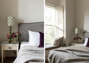 A bed or beds in a room at Royal Standard Farm Daylesford