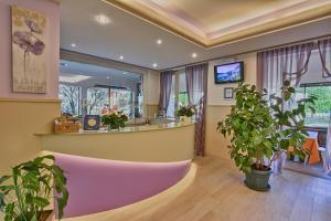 De lobby of receptie bij Hotel Europa