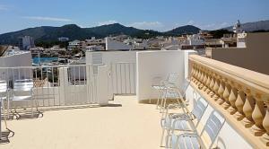 En balkong eller terrass på Hostal Cas Bombu